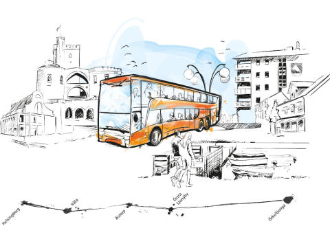 Den 16 augusti blir Örkelljunga lite mer likt London - då får SkåneExpressen 10 Skånetrafikens första dubbeldäckare