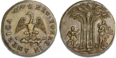 Undseelig amerikansk messingmønt solgt for 660.000 kr.