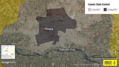 Syrien: Civila i Raqqa svårt drabbade under striderna mot IS