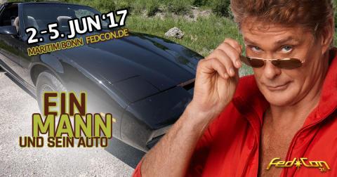 Ein Mann und sein Auto - Michael Knight (David Hasselhoff) und K.I.T.T. auf der FedCon 26