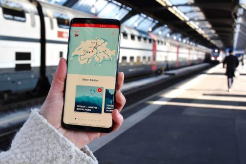 Neue App der Grand Train Tour of Switzerland