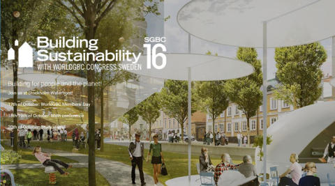 Saint-Gobain sponsrar SGBC16, Nordens största konferens i hållbart samhällsbyggande