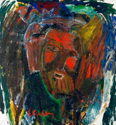 Vernissage av Erland Cullbergs tavla Röde Moses