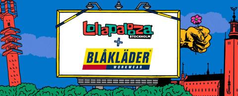 BLÅKLÄDER BLIR SUPPORTER TILL FESTIVALEN LOLLAPALOOZA STOCKHOLM