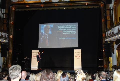 Henrik Larsson Broman talade om Framtidens försäljning under Partnerdagen den 30 januari 2017.