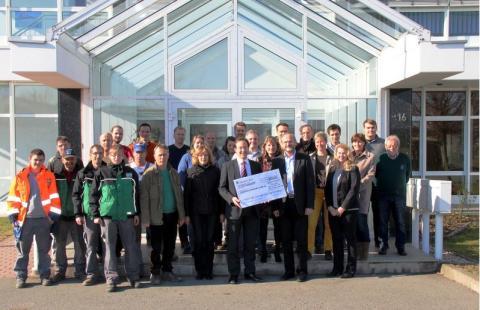 Glass Ingenieurbau Leipzig GmbH: Spendenübergabe zum Geburtstag des Inhabers