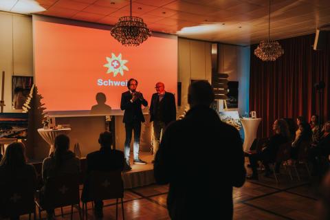 Jörg Peter Krebs, Direktor Schweiz Tourismus & der schwäbische Kabarettist Christoph Sonntag