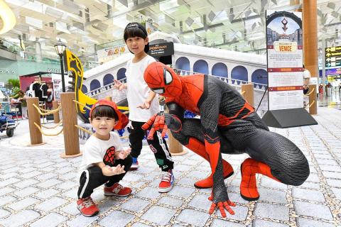 Spider-Man swings into action at Changi Airport this June!