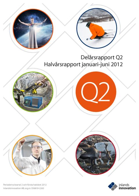 Inlandsinnovation publicerar Q2 och halvårsrapport 2012