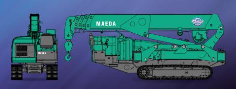 Kranlyft och Maeda når nya höjder på MaskinExpo