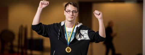 Linus från IT-Gymnasiet vann Yrkes-SM i webbdesign