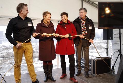 Invigning av Nordens största solpark