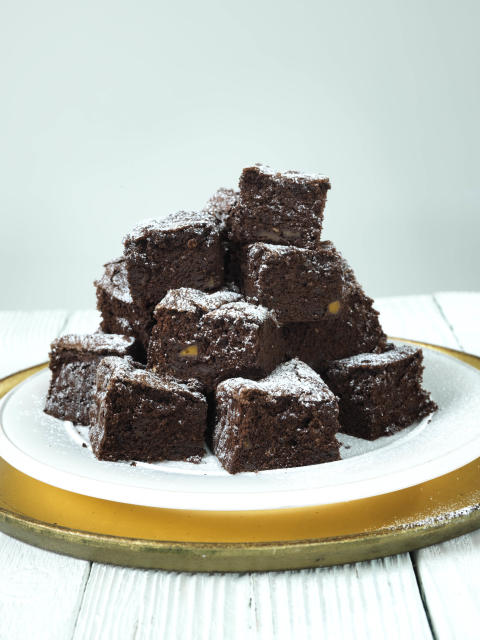 Chokladbrownies med butternutpumpa