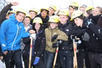 Spaden i jorden - Väsby Nya Gymnasium på gång