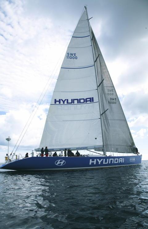 Sveriges största segelbåt - Hyundai