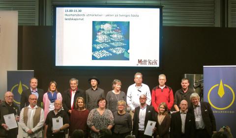 Utmärkelser från Husmansbord delades ut på Mitt Kök-mässan, meddelar CloseUp PR