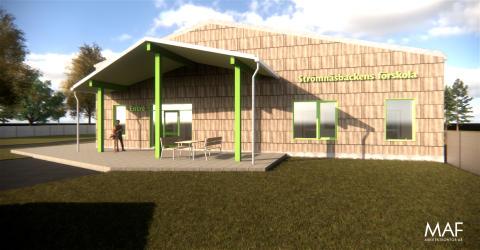 Fjärrvärme, värmedriven kyla och solceller till Strömnäsbackens förskola