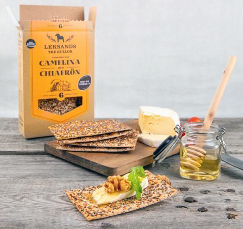 Omegamaxat lyxknäcke till brödhyllan när Leksands Knäckebröd lanserar nyhet med superfrö