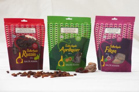 Ekologisk, ansvarsfull och soltorkad frukt i ny förpackning