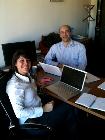 Nick and Courtney on a PR project for Cavotec MSL in Lugano