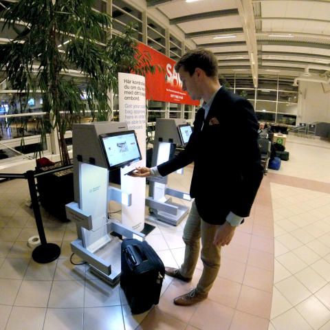 Ny mätning av handbagaget på Malmö Airport