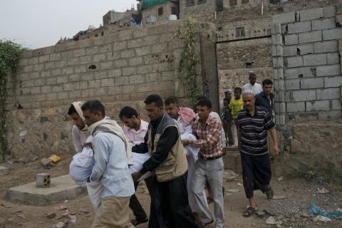Jemen: Över 40 skadade vårdas efter flygattack på marknad