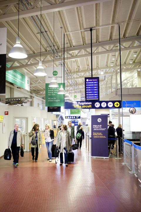 Förbi en miljon resenärer på Luleå Airport
