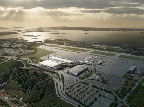 Lindab med kontrakt på leveranser til nytt terminalbygg T3 ved Bergen lufthavn, Flesland.
