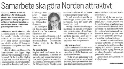3rd conference on Clinical Trials in the Nordic Countries