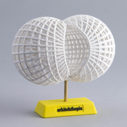 3D-printat koncept för Cancerfondens logotyp –förstapris i Inhousetävlingen