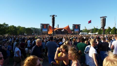 Roskilde Festival: Erobringen af Dyrskuepladsen - set med mobilstatistik