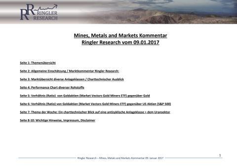 Newsletter Ringler Research:  Mines, Metals and Markets Kommentar vom 09.01.2017