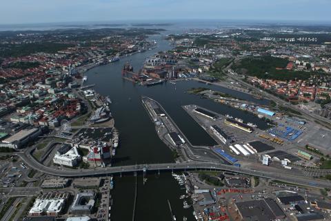 Flygfoto över Älvstaden