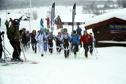 SM i skidalpinism vertikalklass avgjort i Kittelfjäll