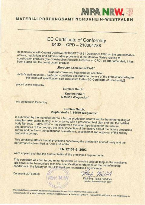 EG-Konformitaetszertifikat 0432-CPD-210004788_en