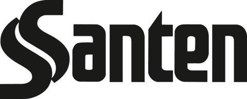 Santen Oy logo, BW