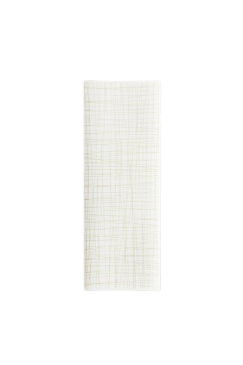 R_Mesh_Line Cream_Platter flat 34 x 13 cm