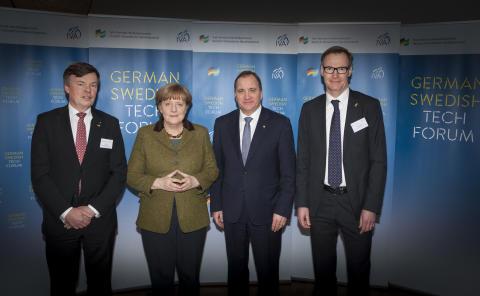 Angela Merkel och Stefan Löfven på German Swedish Tech Forum 1