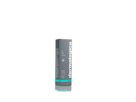 Oil Free Matte 1.7 oz Front of Carton Angled Shot
