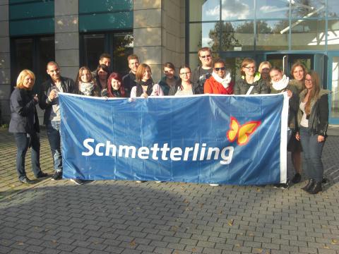 Web-BIld: Schmetterling-Auszubildende auf exklusiver Ameropa Azubi-Inforeise