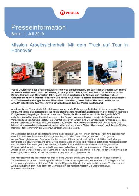Arbeitssicherheit in Hannover