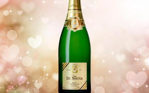Feire Valentinsdagen med champagne