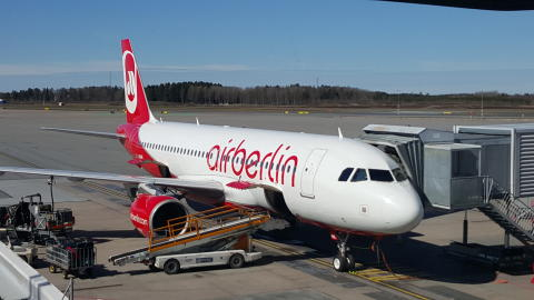 Airberlin flyger till Düsseldorf från Arlanda
