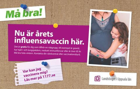 Landstinget kampanjar för att fler ska vaccinera sig mot säsongsinfluensa