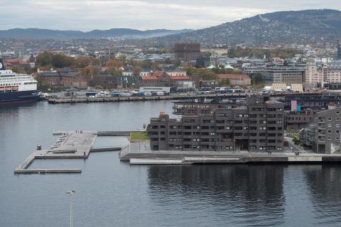 Sørenga området,  Oslo, LPO, Jarmund/Vigsnæs, MAD,Kari Nissen Brodtkorb, 2009- 2017.
