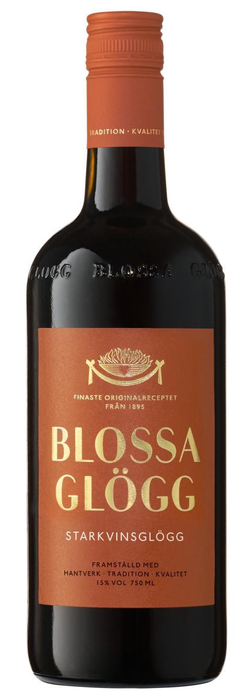 Blossa Starkvinsglögg, flaskbild