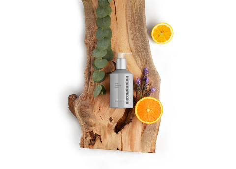 Body Hydrating Cream on Wood with Ingredients
