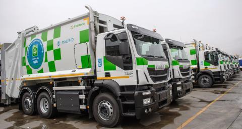 Affaldskørslen i Madrid bliver mere miljøvenlig med CNG-drevne Iveco Stralis