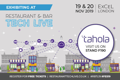 Tahola are exhibiting at Restaurant & Bar Tech Live