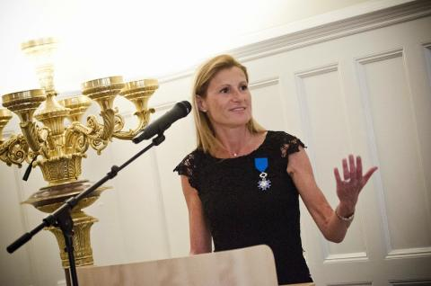 Isabelle Ducellier har tilldelats franska förtjänstorden Ordre National du Méritenational du Mérite.